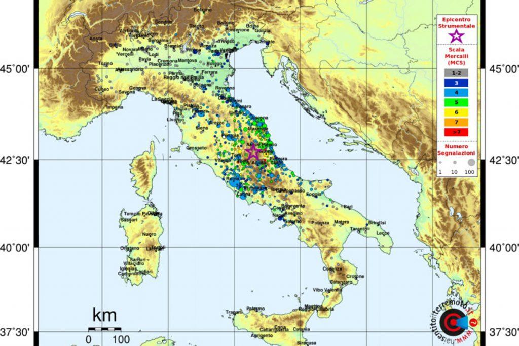 cartina sisma ingv