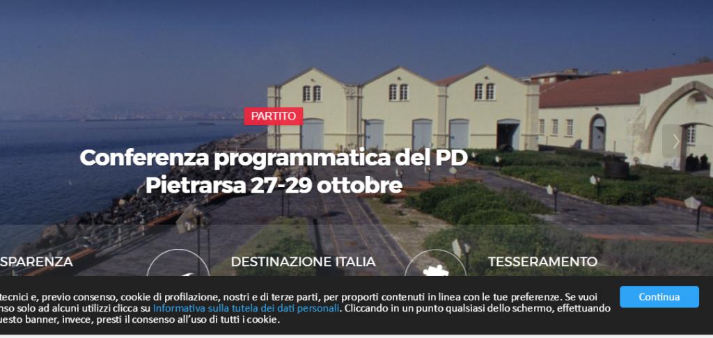 Pietrarsa, Conferenza programmatica del Pd